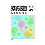 RETRO FLOWERS Crazy Daisy Daisies postage stamp