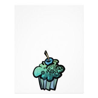 retro flowers cupcake flyer