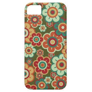 Retro Flowers Daisies Pattern Fun Trendy Chic iPhone 5 Covers