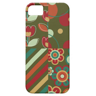 Retro Flowers Daisies Stripes Dots Pattern Fun iPhone 5 Cases