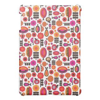 Retro flowers fruit apples pattern ipad case