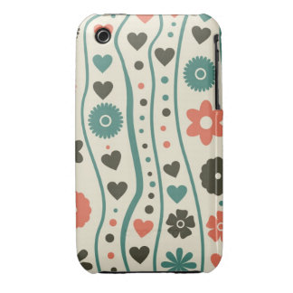 retro flowers iphone 3 3gs barely there case