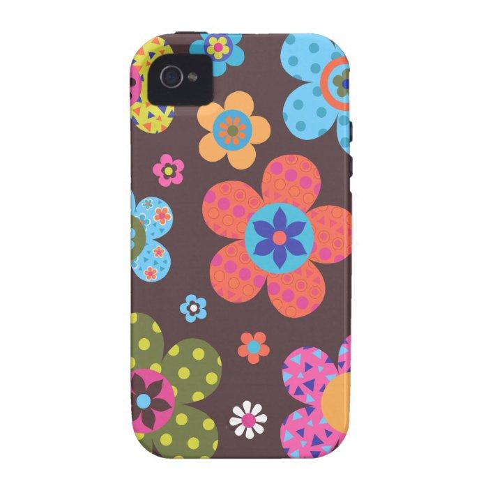 Retro Flowers iPhone 4/4S Cover
