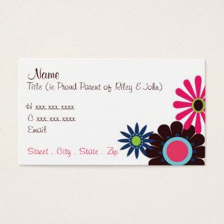 Retro Flowers Mommy Card