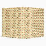 Retro flowers pattern binder