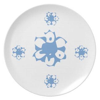 Retro Flowers Plate