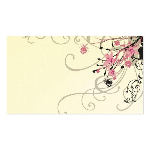 Retro flowers Profile Card Business Card