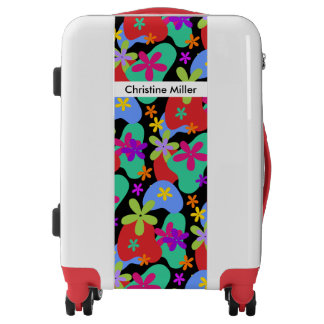 Retro Flowers seamless pattern colored Luggage