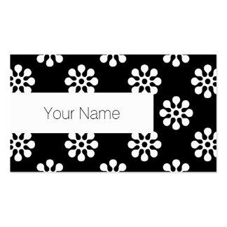 Retro Flowers seamless pattern white Business Card