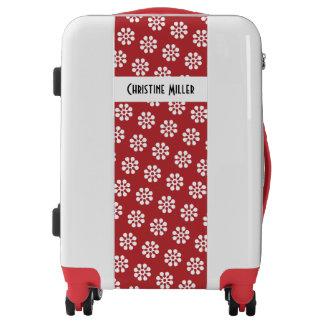 Retro Flowers seamless pattern white Luggage