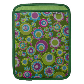 retro flowers sleeves for iPads