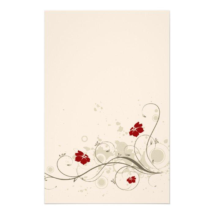 Retro Flowers Stationary Stationery