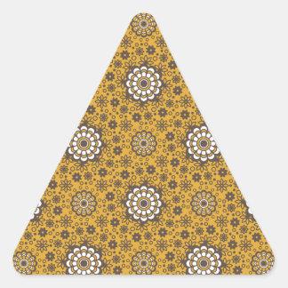 Retro Flowers Triangle Sticker