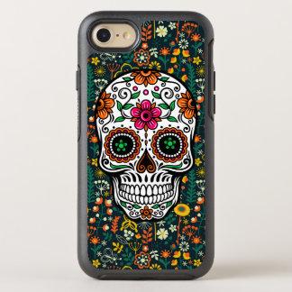 Retro Flowers & Sugar Skull Illustration OtterBox Symmetry iPhone 7 Case