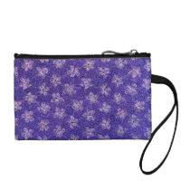 Retro Flowers Vintage Floral Amethyst Purple Change Purse