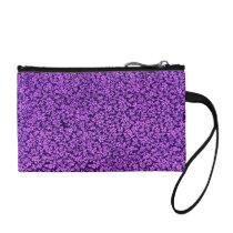 Retro Flowers Vintage Floral Amethyst Purple Grape Change Purse