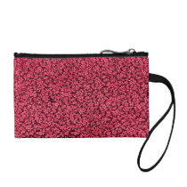 Retro Flowers Vintage Floral Ruby Red Cranberry Coin Wallet