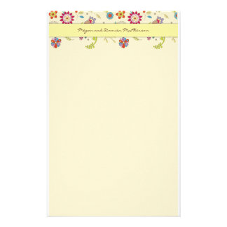 Retro Flowers · Yellow · Stationery