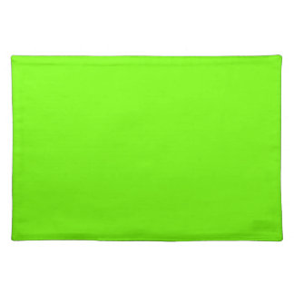 Retro Fluoro Lime-Green Collection Cloth Placemat