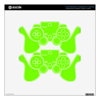 Retro Fluoro Lime-Green Collection Decal For PS3 Controller