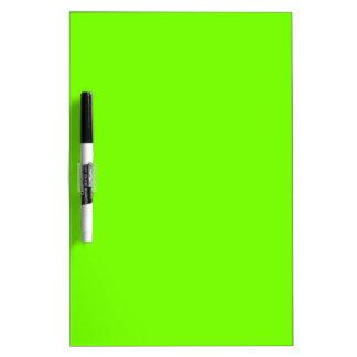 Retro Fluoro Lime-Green Collection Dry-Erase Whiteboard
