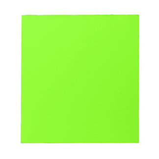 Retro Fluoro Lime-Green Collection Memo Note Pads