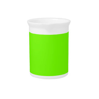 Retro Fluoro Lime-Green Collection Beverage Pitchers