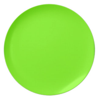 Retro Fluoro Lime-Green Collection Dinner Plate