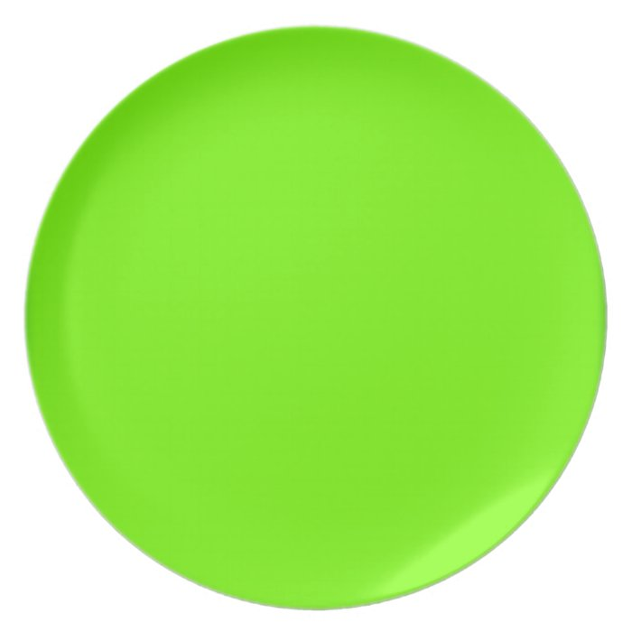 Retro Fluoro Lime-Green Collection Plate