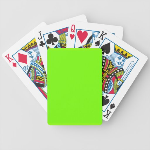 Retro Fluoro Lime-Green Collection Bicycle Playing Cards