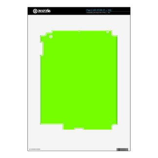 Retro Fluoro Lime-Green Collection Skin For iPad 2