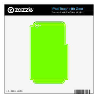 Retro Fluoro Lime-Green Collection Skin For iPod Touch 4G