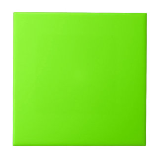 Retro Fluoro Lime-Green Collection Small Square Tile