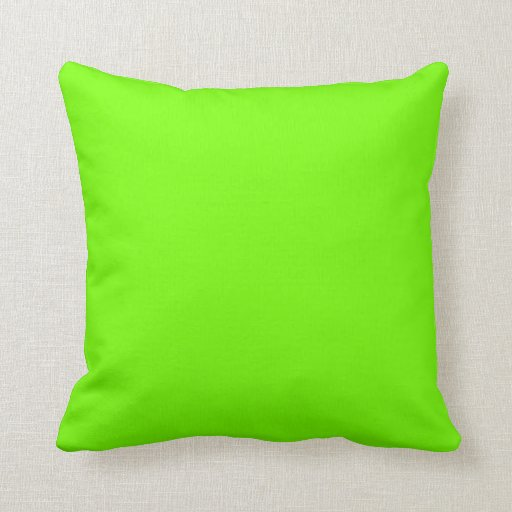 Retro Fluoro Lime-Green Collection Throw Pillow