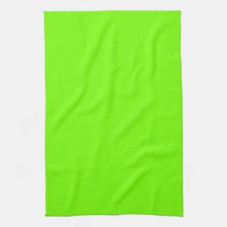 Retro Fluoro Lime-Green Hand Towel