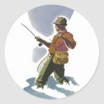 Retro Fly Fishing Stickers