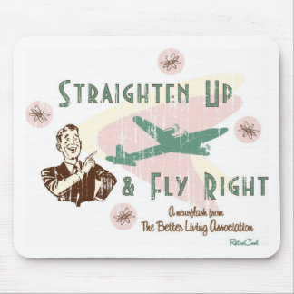 Retro 'Fly Right' Mouse Pad