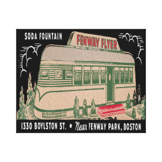 Retro Flyer Diner 20x16 Oil Canvas Print