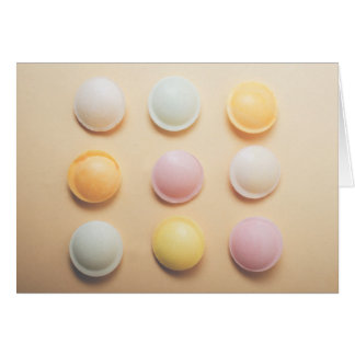 Retro flying saucers greeting card