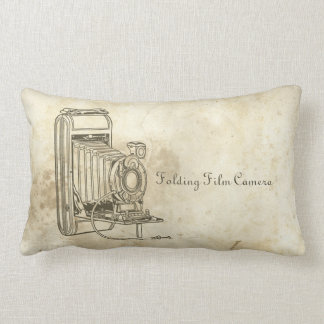 Retro Folding Film Camera Throw Pillow