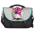 Retro Folk Art Owl Laptop Bag