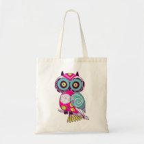 Retro Folk Art Owl Tote Bag