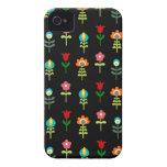 Retro folk floral pattern Case-Mate iPhone 4 cases