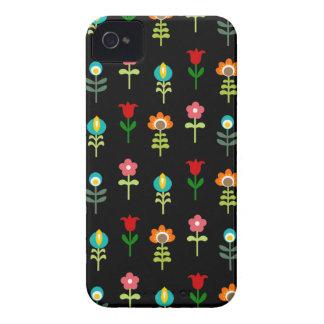 Retro folk floral pattern iPhone 4 case