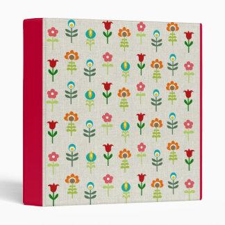 Retro folk flower pattern binder