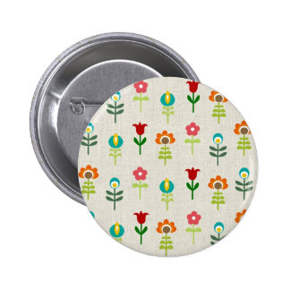 Retro folk flower pattern pins