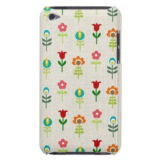 Retro folk flower pattern barely there iPod case