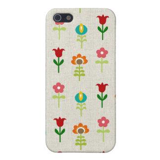 Retro folk flower pattern iPhone 5/5S covers