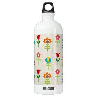 Retro folk flower pattern SIGG traveler 1.0L water bottle