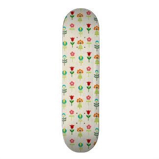 Retro folk flower pattern skate decks